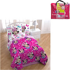 Minnie Mouse Bedroom Set Full Size by Disney Minnie Mouse 4 Piece Bedding Set Walmart Com