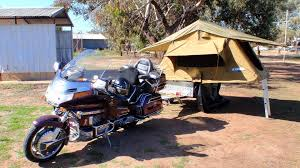 GOLDWING MOTORCYCLE CAMPER TRAILER