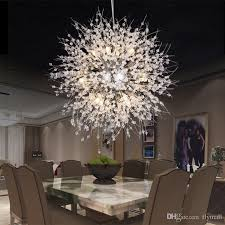 großhandel moderne dandelion led deckenleuchte kristall kronleuchter beleuchtung globe kugelpendelleuchte für esszimmer schlafzimmer wohnzimmer