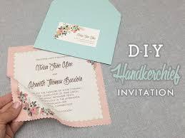 DIY Vintage Hanky Wedding Invitation With Free Template