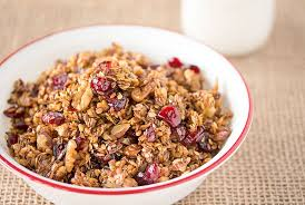 Pumpkin Flaxseed Granola Nutrition Info by Flax Granola With Cranberries And Walnuts The Plan Veggies By