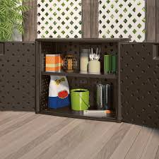 Suncast Patio Storage Box by Suncast Elements Outdoor Wicker Cabinet Hayneedle