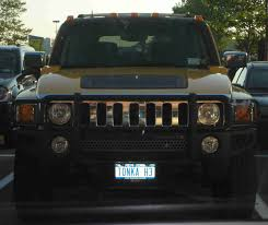 Funny License Plates: TONKA H3 - So You're Telling Me Your Hummer Is ...