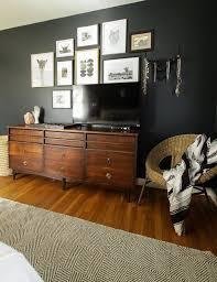 moody modern boho master bedroom progress black walls
