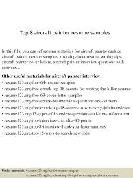 Top 8 Aircraft Painter Resume Samples Rh Slideshare Net Cv Example
