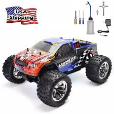 100 Monster Truck Nitro HSP 24Ghz RC Car 110 Scale Power 4wd Off Road