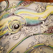 Heres My Squid Animorphia ColoringDoodlesFish