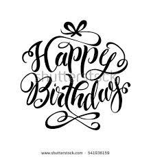 Happy birthday lettering hand drawnctor illustration