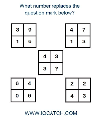 IQ Puzzle 15 What number replaces the question mark A