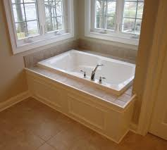 Tiling A Bathtub Enclosure by Another Concept I Like The Idea Of The Carrera Here On The Deck