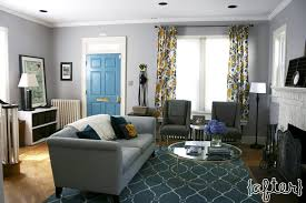 Living Room Teal Gold With Trellis Rug Gray Furniture