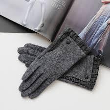 personalised merino wool gloves with herringbone cuff by studio