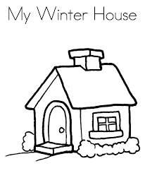 My Winter House Coloring Pages Printables
