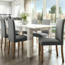 100 White Gloss Extending Dining Table And Chairs High Extendable In With