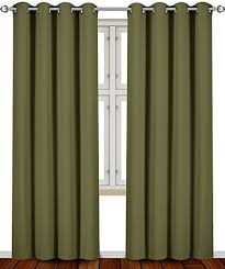green curtains for living room amazon com
