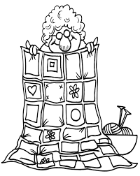 Quilt Coloring Page Of Grandma Holding Her