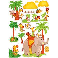 stickers jungle chambre bébé stickers décoration chambre bébé les loustics acheter ce produit