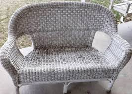 Wicker Furniture Painted Grey Wicker Patio Furniture