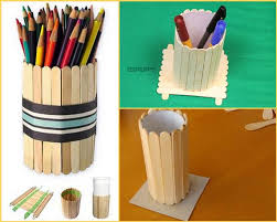 Making Penholders With Popsicle Sticks