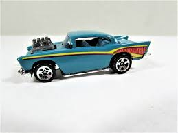 Vintage Hot Wheels 57 Chevy Toy Car Dark Turquoise