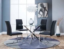 Bravo Black Table + 4 Chairs Ding Room Circular 10 Gorgeous Black Tables For Your Modern Pulaski Fniture The Art Of 7 Piece Round Table And Best Design Decoration Channel Really Inspiring Creative Idea House By John Lewis Enzo 2 Seater Glass Marble Kitchen Sets For 6 Solid Wood Island Mahogany Zef Set Kitchens Sink Iconic 5 Deco Double Xback Antique Grey Stone 45 X 63 Extra Large White Corian Top Chairs 278 Rooms With Plants Minimalists Living