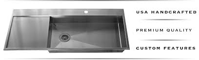 Stainless Steel Utility Sink With Drainboard by Copper And Stainless Steel Drainboard Sinks Havens Metal