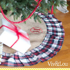 Red And Green Plaid Tree Skirt
