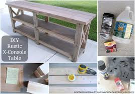 Console Tables Rustic Ana White Diy X Table Projects Dresser Mission Style Inch Sofa