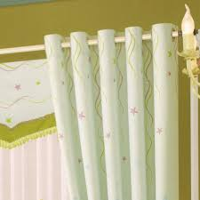 green patterns rustic living room curtains