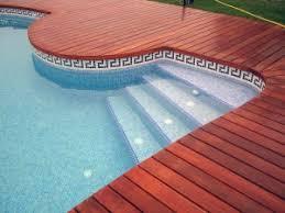 swimming pool waterline tile backyard design ideas