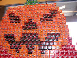 Today At Safeway I Saw One Of Those Store Displays Made From Empty Soda 12 Packs
