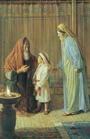 Image Old Testament Hannah Presents Son Samuel