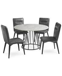 callisto marble round dining set 5 pc dining table 4 side