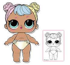 Lil Bon Coloring Page LOL Surprise Doll Pages