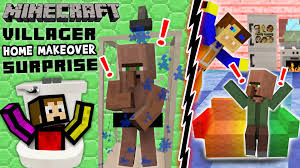VILLAGER HOME MAKEOVER SURPRISE Minecraft Furniture Mod Fun w