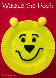 DIY Winnie The Pooh Paper Plate Craft Via 365ishpins