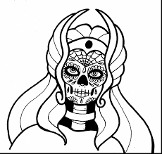 Marvelous Printable Coloring Page She With Day Of The Dead Pages And