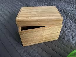 ikea bad zubehör bambus natur box mit deckel klein deko