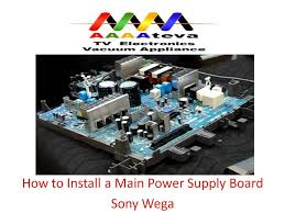 main power supply board installation on sony wega tv youtube