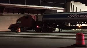 100 Truck Stuck Under Bridge Tanker Truck Gets Stuck Under Bridge On Shoreway