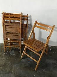 Wooden Folding Chairs (Retro)