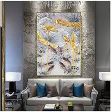 3er set lotus wandbilder kunstdruck leinwand bilder set für