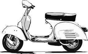 Scooter Vespa Drawing Transparent PNG