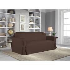 Sure Fit Stretch T Cushion Sofa Slipcover by Serta Relaxed Fit Duck Furniture Slipcover Sofa 1 Piece Box