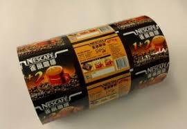Quality Flat PE PET Laminated CMYK Printed Plastic Roll Film For Coffee Powder Packaging Sale