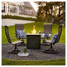 Target Threshold Dining Room Chairs by Camden 4 Pc Sling Swivel Rocker Patio Dining Chairs Threshold