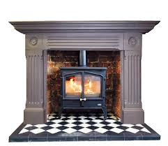 Buy Online Antique Large Edwardian Cast Iron Mantel Fireplace