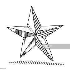 Christmas Decoration Star Drawing Vector Art