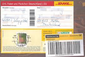 FilePäckchenaufkleber Mit Briefmarke Bis 2 Kg DHL 2016jpg