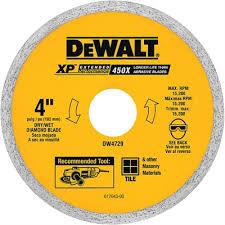 Dewalt Wet Tile Saw Canada by Dewalt Dw4729 Xp 4 In Ceramic Tile Wet Dry Diamond Blade Lowe U0027s